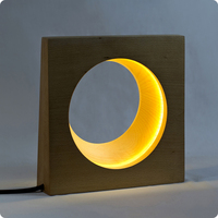 Crescent moon rubber Table Lamps modern minimalist bedroom study bedside lamp LU814290