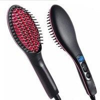 Ceramic Hair Straightening Brush Comb Irons Handheld Electric Hair Straightener LCD Display Fast Hair Smooth Straightener