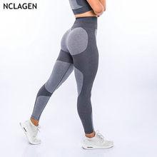 6fc093abcb NCLAGEN 2019 kobiety Sexy Squat dowód odzież sportowa Butt podnośnik  legginsy siłownie bez szwu spodnie Sudadera