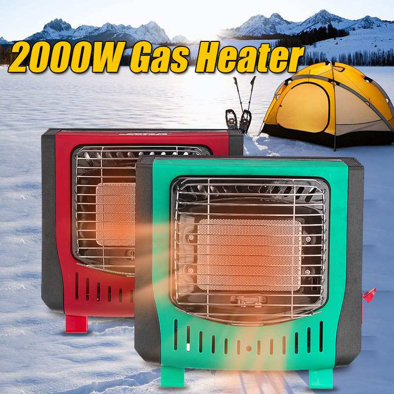 WARMTOO 2000W électrique extérieur gaz LPG chauffage chaud Air ventilateur réglable bureau pratique hiver maison Camping randonnée campeurs plus chaud