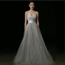 2017 новое поступление роскошные свадебные платья с поясом милое