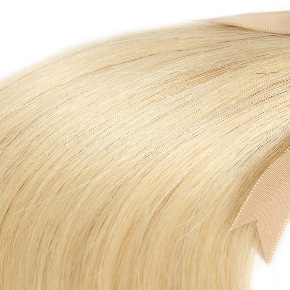 Şık 613 Bal Sarışın Demetleri Düz Saç Brezilyalı Saç Örgü Demetleri 100% Düz Remy saç ekleme 10 ila 26 Inç