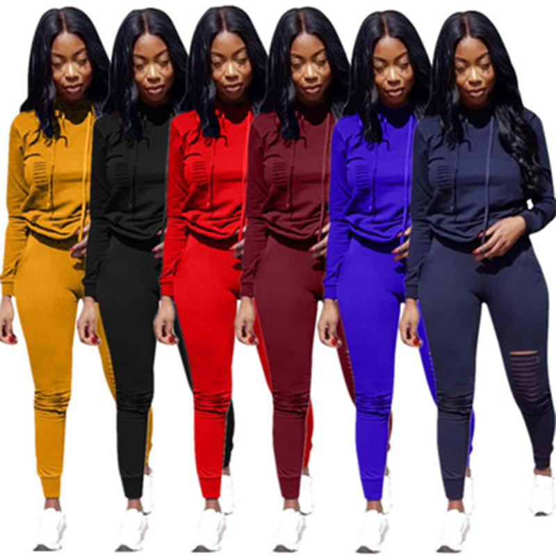 YD broken hole yoga set breathable anti-wrinkle dropship sportswear women gym solid gym clothing workout fitness clothing