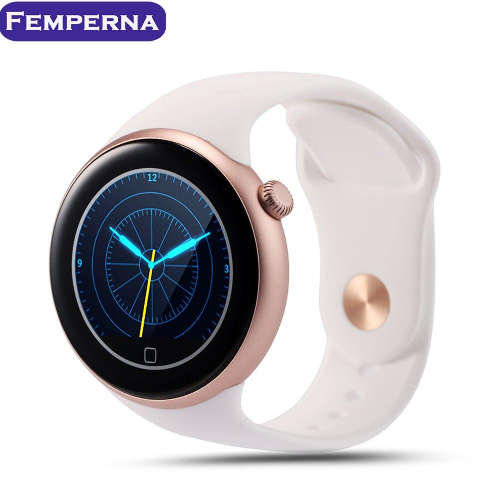 imágenes para Femperna C1 Bluetooth IP67 A Prueba de agua Reloj Inteligente MTK2502 Pantalla Redonda Siri Gesture control Remoto de La Cámara para android IOS Teléfono