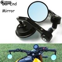 7/8 Motorcycle Mirror CNC Aluminum Handle Bar End Rearview Mirror For Kawasaki Z250 Z750 Z800 Z1000 ZR800 ZRX1200 Honda MSX125