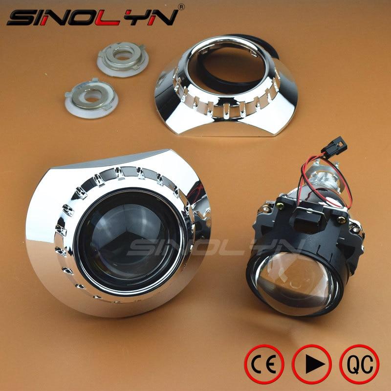 Mini HID Bi-xenon Lente Do Projetor Do Farol Com Mortalhas E46-R Estendido Para BMW M3 E90/E91/E92/E93 ZKW E46 compact, Use H1 Xenon