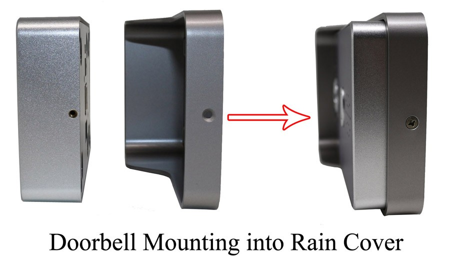 Doorbell Mounting into Rain Cover