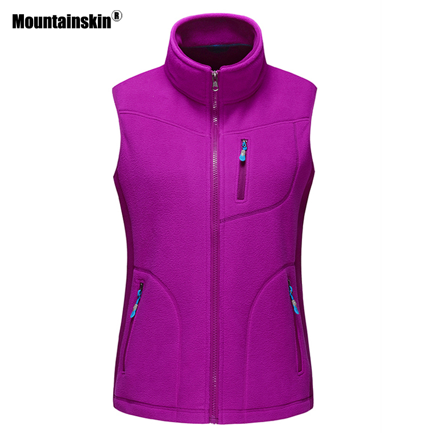 Mountainskin Outdoor Fleece Vest Women's Winter Hiking Climbing Trekking Sleeveless Jackets Camping Softshell Female Vest RW074 f you very much