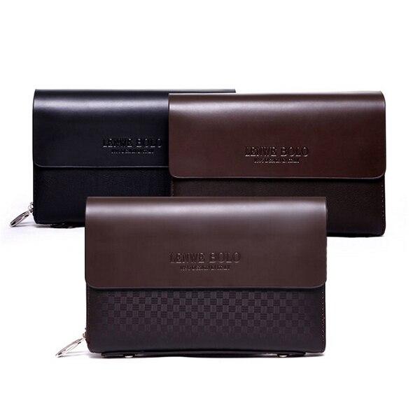 6e5a43fe5 Alta calidad de lujo del mens del cuero genuino cluthes billeteras grandes  para hombre monedero monedero hombre billeteras envío gratis en Carteras de  ...