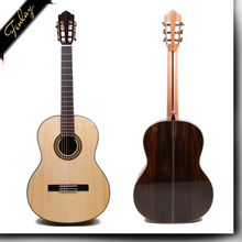 Free shipping 39 inch Handmade Spanish guitar With Solid Spruce /Rosewood Body,Acoustic guitarras+hard case classical guitar