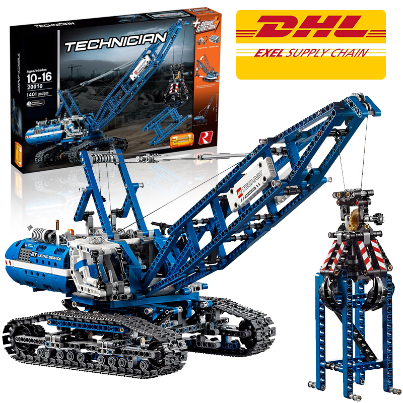 Lepin 20010 Crawler Crane building bricks blocks Toys for children boys Game Model Car Gift Compatible with Bela 42042 hot sembo block compatible lepin architecture city building blocks led light bricks apple flagship store toys for children gift