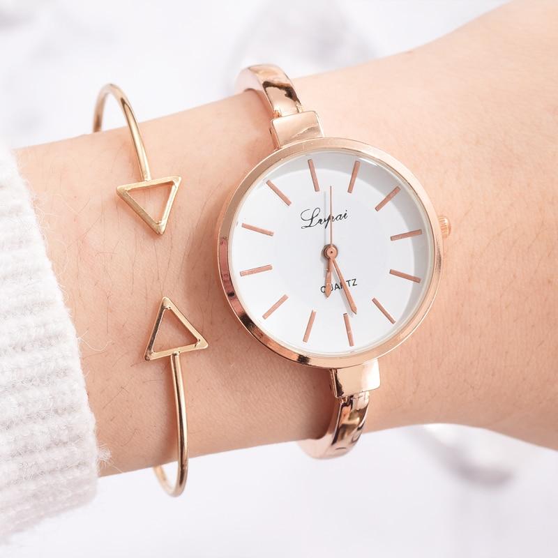 Lvpai Brand Women Bracelet Watches Set Luxury Gold Quartz-Watches Ladies Bangle Fashion Dress Sport Watch Clock Dropshiping