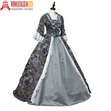 Southern Belle Renaissance Georgian Dress Brocade Prom Period Cosplay Ball Gown Clothing