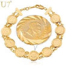 U7 France Coin Napoléon Bracelets Hommes Femmes En Gros De Bijoux À La Mode  Or Couleur Lien Chaîne ID Bracelets   Bangles H355 6048714c8d3