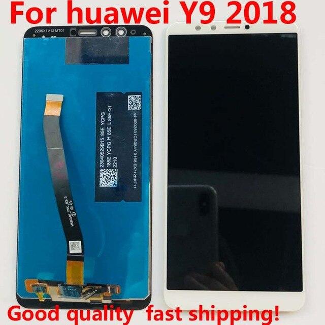 5.93 Full Lcd scherm + Touch Screen Digitizer Vergadering Voor Huawei Y9 2018 FLA L22 FLA LX2 FLA AL00 FLA LA10 FLA LX1 Originele Lcd