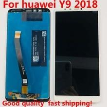 """5.93 """"LCD תצוגה + מסך מגע Digitizer עצרת עבור Huawei Y9 2018 FLA L22 FLA LX2 FLA AL00 FLA LA10 FLA LX1 המקורי LCD"""