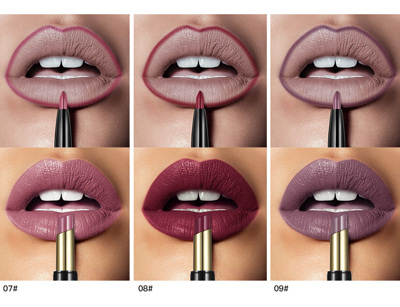 New PUDAIER Brand 16 Color Double Ended Nude Lasting Waterproof Lip Liner And Matte Lipstick Nude Dark Red Lips Liner Pencils (5)