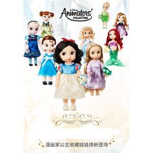 Image 5 - ディズニー 10 スタイルプリンセスアクションフィギュアおもちゃベルシンデレラ白雪の妖精ラプンツェル人形アリエル人形装飾の子供のギフト