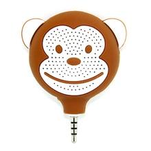 cartoon monkey shape 3.5 mm plug mini phone speaker wireless stereo loudspeaker for iPhone computer tablet MP 3/4/5
