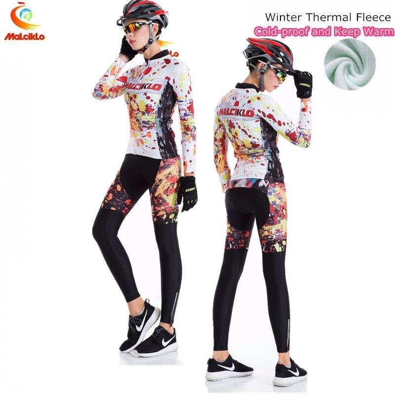 Malciklo Passione Fiamma Termico del Panno Morbido Jersey di Riciclaggio 2018 set Bike Abbigliamento Ropa ciclismo Maillot Abbigliamento Ciclismo Invernale Delle Donne