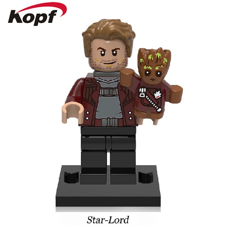 Single Sale Star-Lord Baby Groot Guardians of the Galaxy Super Heroes Ayesha Yondu Building Blocks Toys for children Gift XH 610 the door chai non visual intercom doorbell telephone rainproof function