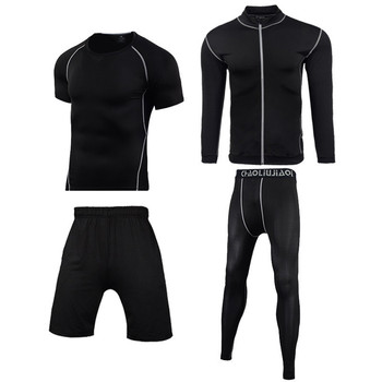 Men Sportswear Compression Sport Suits Quick Dry Running Sets Clothes Sports Joggers Training Gym Fitness Tracksuits Running Set 30
