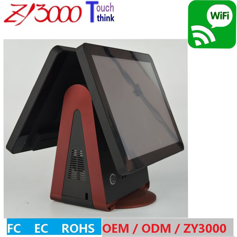 2018 Rushed Ordenador Panel Computer Hmi Computador New Stock 15 Double Multi Capacitive Touch Screen All In One Epos System