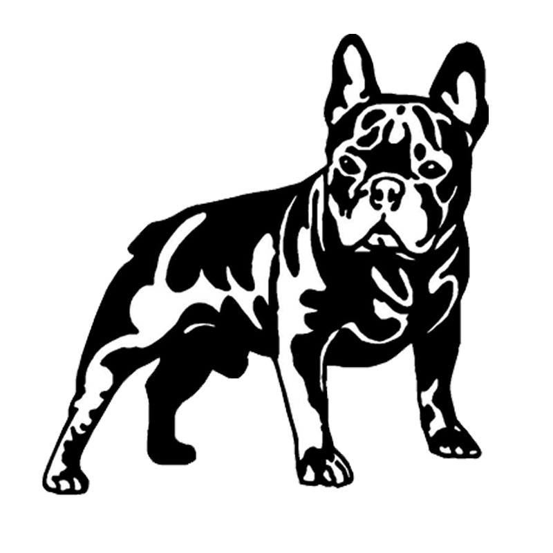 15.8*16.3CM French Bull Dog Vinyl Decal Cute Car Stickers Car Styling Motorcycle Accesso ...