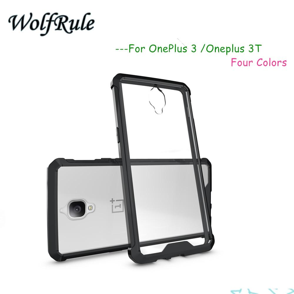 Moda para case oneplus 3 t a prueba de golpes cubierta de tpu + pc transparente