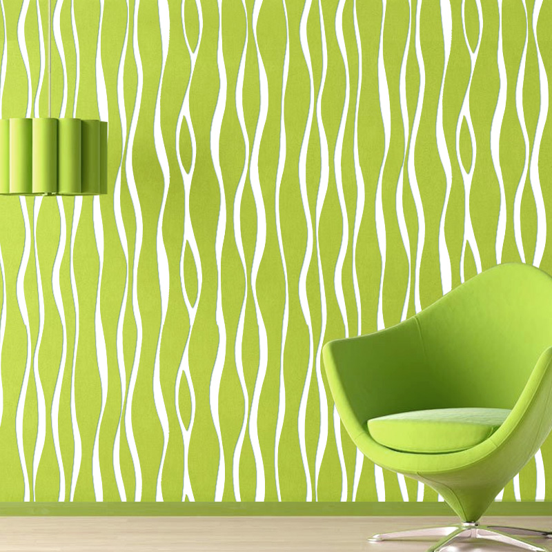 Bacaz 3d papel de parede Green 3d abstract Stripe Wallpaper Rolls for Bedroom 3d Wall paper Roll 3d wallcoverings 3d papel de parede 3d wall panels wallpaper rolls 3d wood wallpaper for babershop cafe bar 3d stripe wall paper roll decor