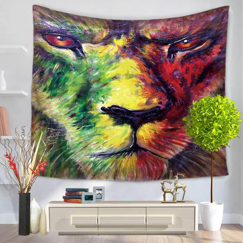 130*150/150*200 см лев индейская мандала гобелен полиэстер одеяла индийский богемный декор настенный гобелен