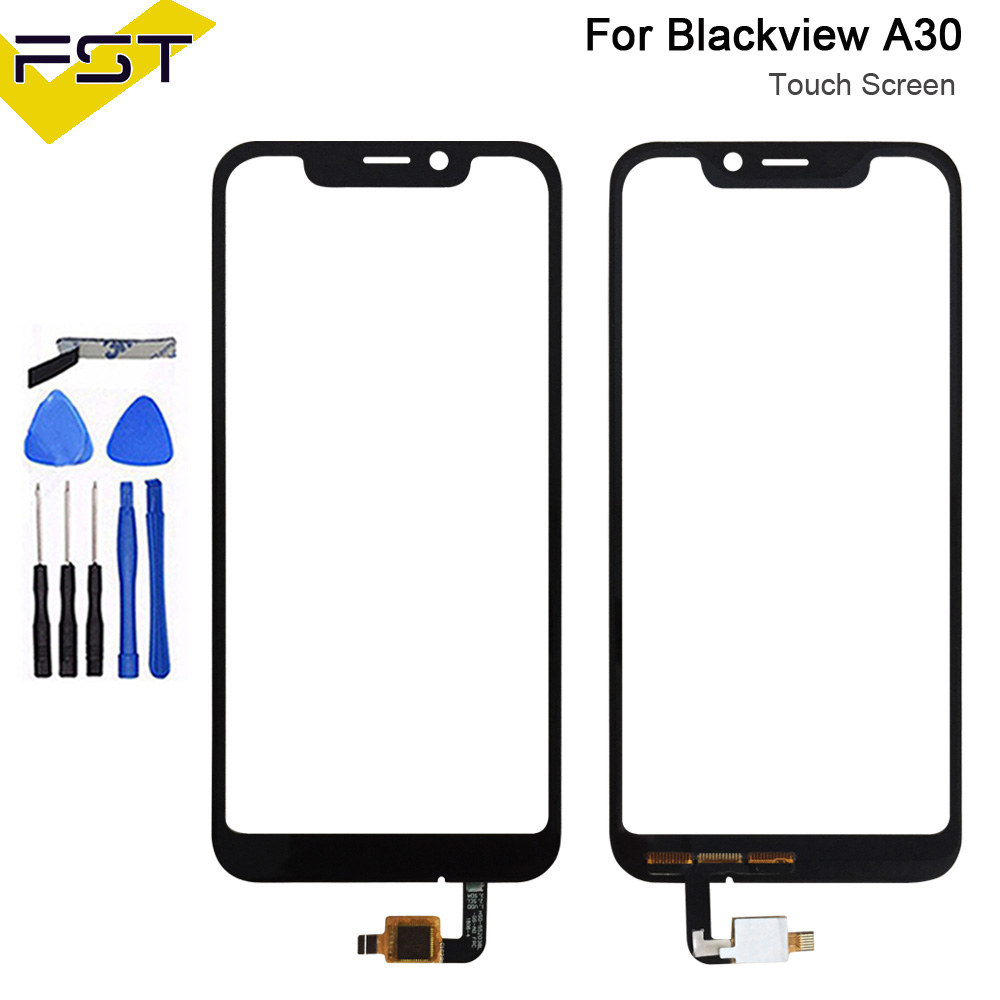 Black For Blackview A30 Touch Panel Touch Screen Digitizer Sensor Replacement For Blackview A30 Touch Glass Lens+Tools
