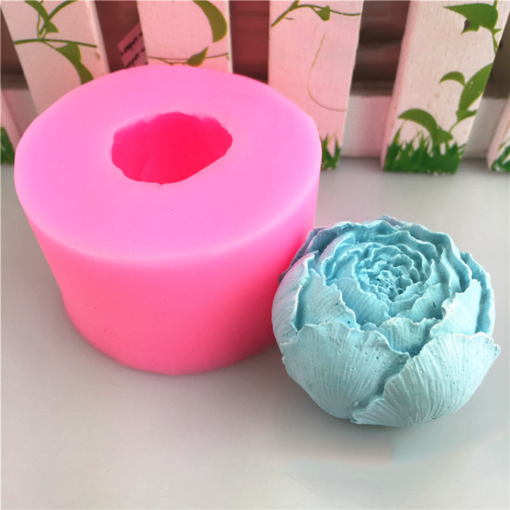 DIY 2019 Newest 3D Cabbage Soap Mold Made By Silicone  Handmade Soap Candle Mold Fondant Cake Chocolate Decorating