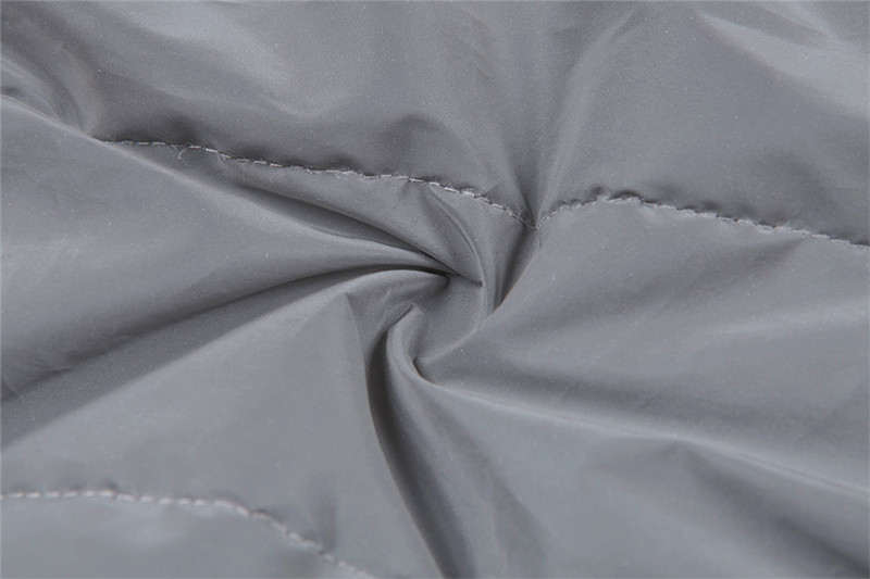 Dulzura flash reflective women padded jacket short tops warm 18 autumn winter solid zipper oversize loose outwear coats casual 31