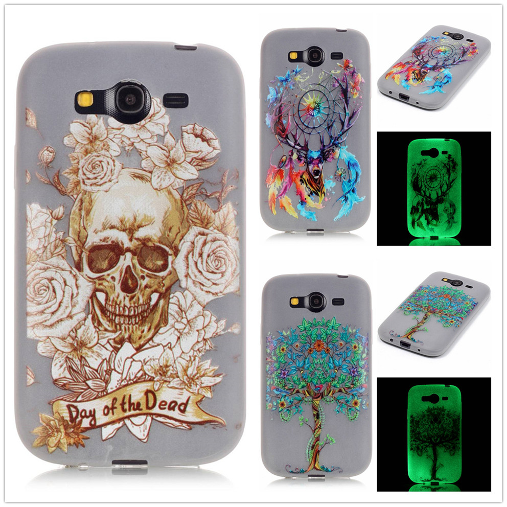 Slim Luminous Tpu Soft Case For Samsung Galaxy Grand Neo Plus I9060 Softcase Thin Droff Matte Black J5 Prime Duos I9082 9080 Noctilucent Silicone Cover Phone Shell
