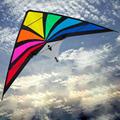 5.9ft 1.8 m Colorido Controle de Linha Dupla Stunt Kite Brinquedos Ao Ar Livre Esportes Diversão com linha de vôo