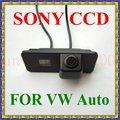 Traseira SONY Chip CCD carro câmera de segurança reversa para VOLKSWAGEN VW PHAETON / SCIROCCO / SEAT leon, Ecrã / BORA