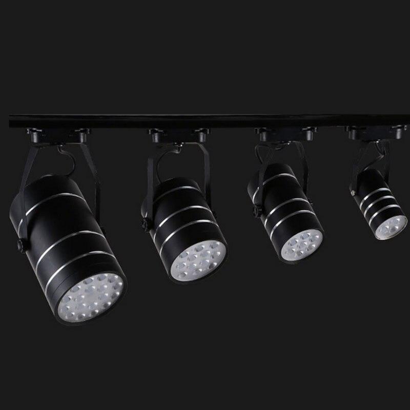 commercial art gallery led track lighting rail 18w led spotlight ceiling lamp fixture front mirror light art track lighting