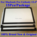 "100% New Original 15pcs/Package For Macbook Pro Unibody 15.4"" A1286 Glass Front LCD Glass Cover Lens Fit For 2009 2010 2011 2012"