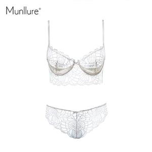 Image 5 - Munllure Deep V ชุดชั้นใน charm ลูกไม้ตกแต่งรูปแบบเซ็กซี่ charming ultra บางชุด