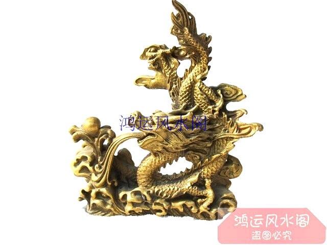 Seiko pur Bronze statue de cuivre décoration dragon d'or dragon feng shui produits décoration