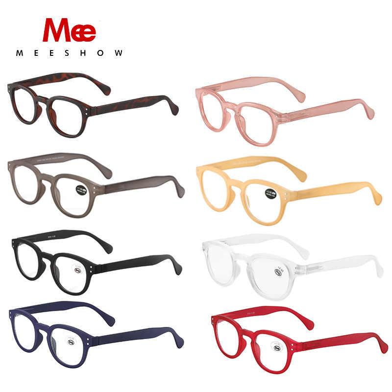 Meeshow rétro lunettes de lecture hommes lunettes avec dioptrie ronde style européen qualité femmes lunettes de vue blanc presbytie lunettes