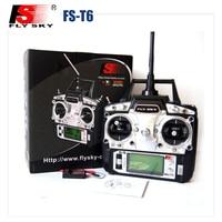 Freeshipping FS FlySky FS-T6 T6 2.4G Digital 6 Canais Transmissor & Modo de Receptor de Rádio RC 2