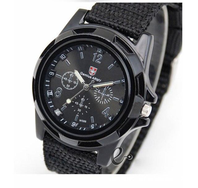 Fashion Men's Military Army Dial Army Sport bracelet Wristwatch mens chronograph