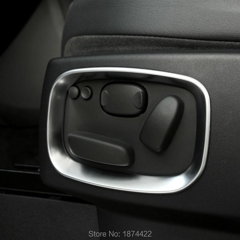 4Pcs Seat Adjust Button Switch Cover Decorative Trim for Discovery 4 LR4 2009-2016 Car Seat Decorative Trim