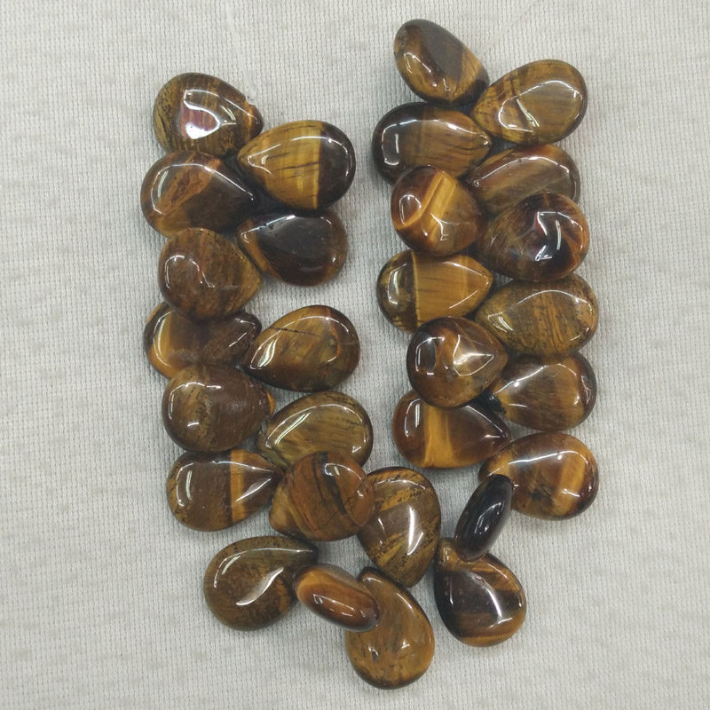 Wholesale 28pcs/lot 13X18mm Fashion natural tiger eye stone drop CAB CABOCHON teardrop beads for jewelry making free shipping