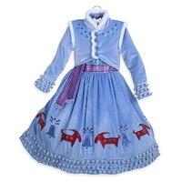 ABGMEDR Yeni Çocuk Fantezi Kız Elsa Prenses Elbiseler Çocuklar Kız Kış Kar Kraliçe Doğum Günü Parti Elbise Bebek Tatil Giysileri