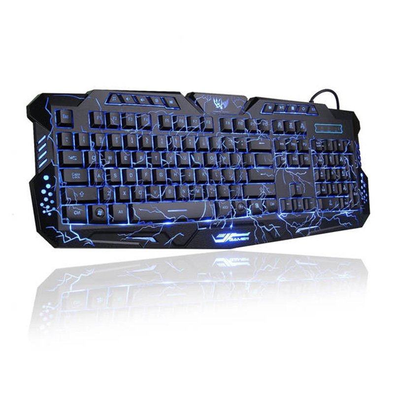 LED 3 del contraluz/Crackle M-200 Multimedia ergonómico USB Gaming Keyboard
