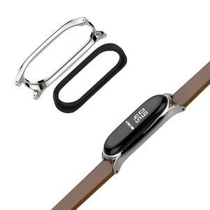 Image 3 - Mi Band 5 Strap for Xiaomi Mi Band 4 Bracelet Genuine Leather Wristband for Xiao Mi Miband 3 NFC Accessory Miband 5 Wrist Strap