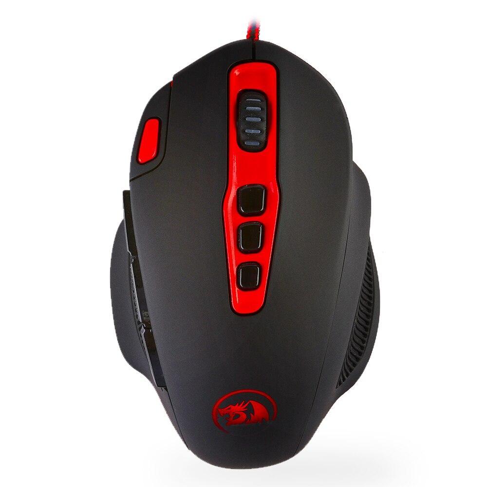 Redragon M805 Hydra красочные led 14400 Точек на дюйм программируемый Лазерная игровая профессиональный проводной Мышь Мыши компьютерные для ПК 10 запрограммирован Пуговицы